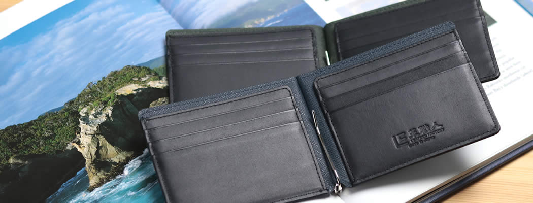 札ばさみ マネークリップ 財布 革財布 本革 牛革 革 お札を分けられる 分ける キリコスター ビー フリーダ フリーダム