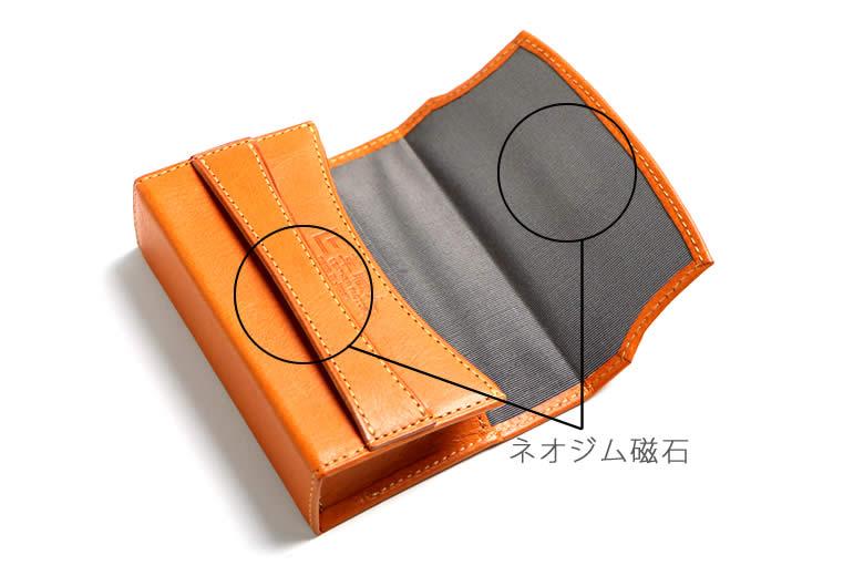 誤開き対策の隠しネオジム磁石