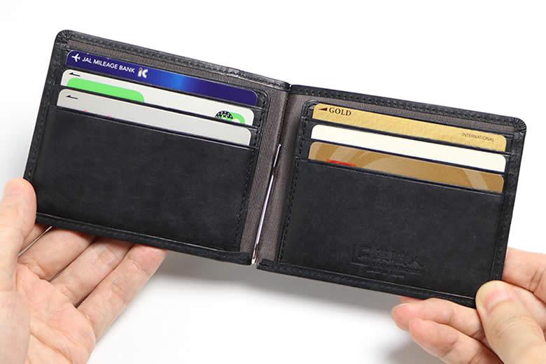 6枚のカード収納