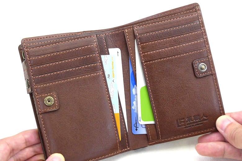 カード段の下に4つのポケット