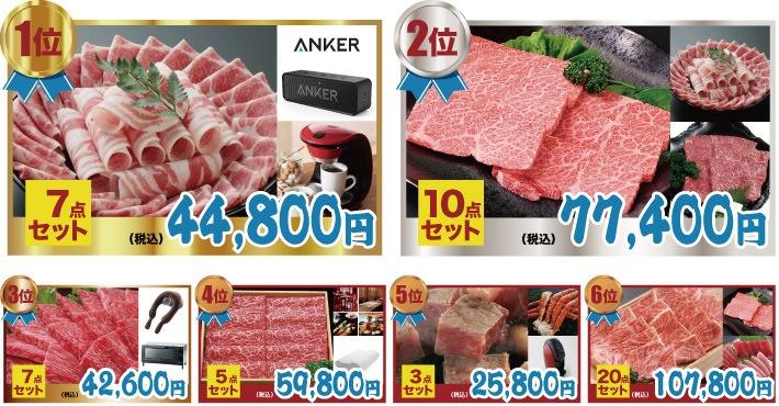 高級ブランド肉人気景品ランキング