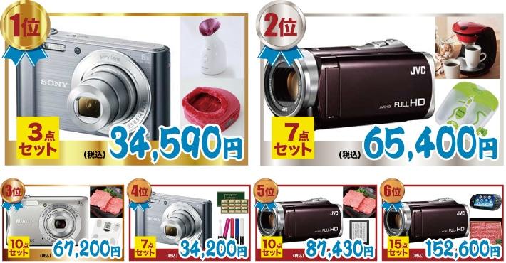 カメラ人気景品ランキング