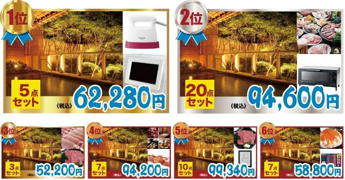 選べる温泉旅行人気景品ランキング