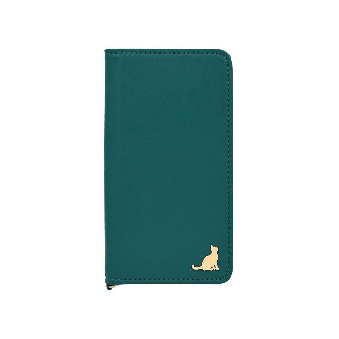 エレガンテ・シャトン 全機種対応版 手帳型ケース 05.ティールグリーン