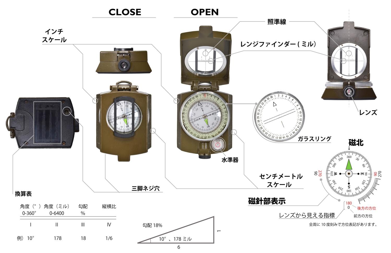 蓄光コンパスKC-04