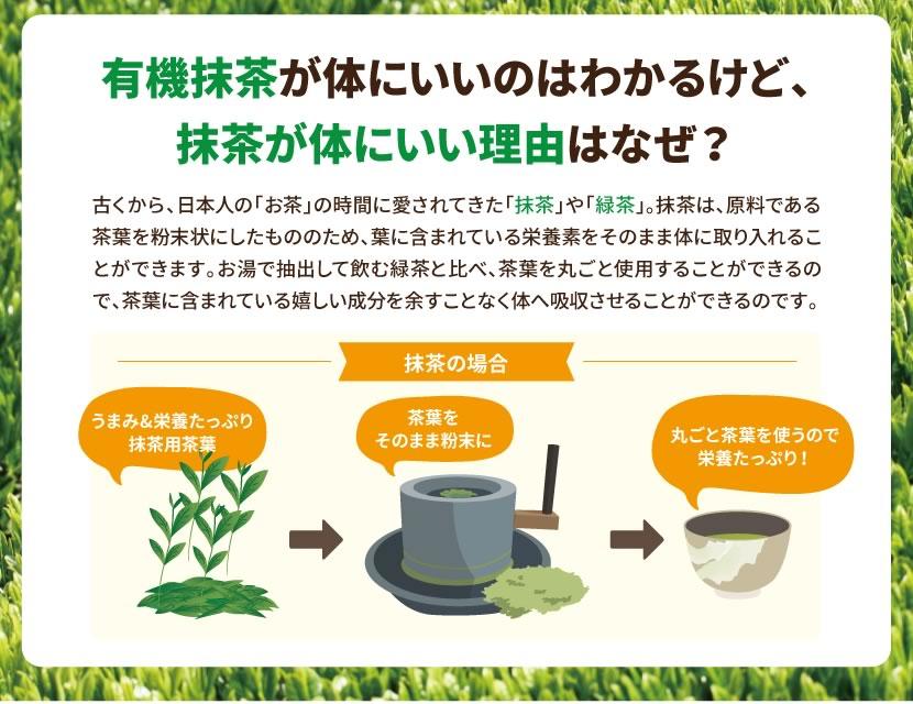 丸ごと茶葉を使用するのでうまみや栄養がたっぷり!