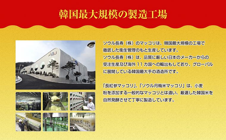 ソウルマッコリ製造工場紹介