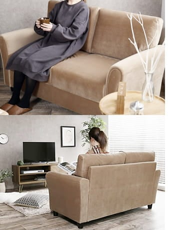 annie velor sofa