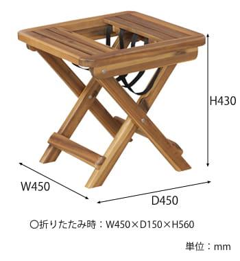 バレルサイドテーブル サイズ