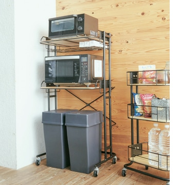 by cage kitchen rack