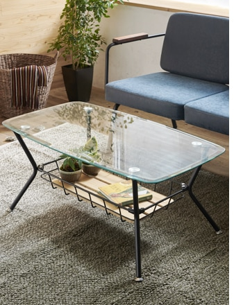 BY cage glass table