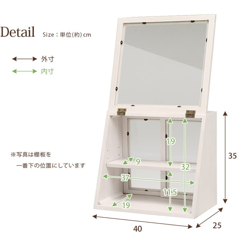 counter glass case M