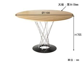 サイクロンテーブル サイズ