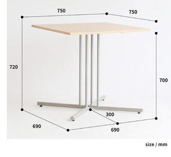 カフェテーブル サイズ