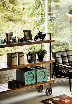 iron mangowood shelf