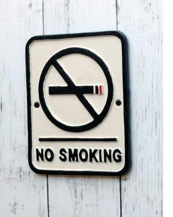 iron plate no smoking