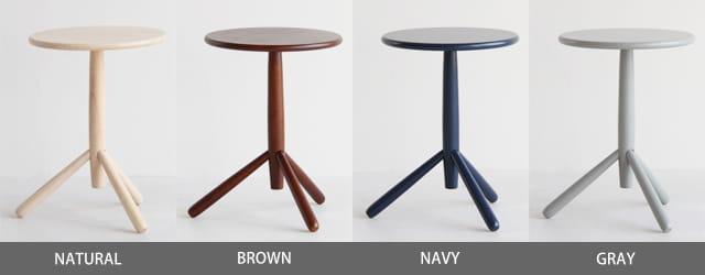 キノコサイドテーブル カラー