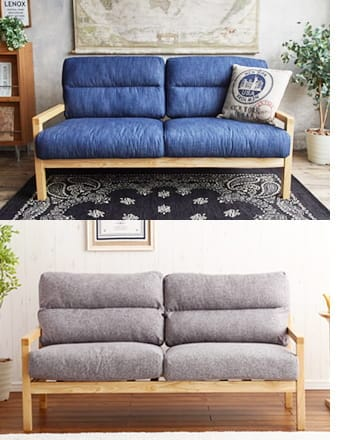 life weshable denim sofa 2seat
