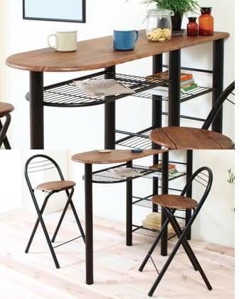 like vintage high table set