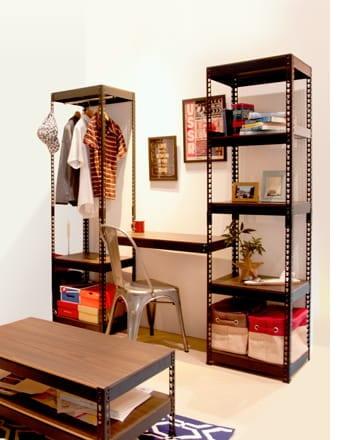 metal&wood rack shelf5S