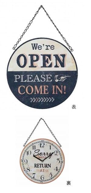 open/closeタイムアナウンスプレート