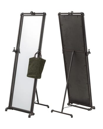 pipe stand mirror
