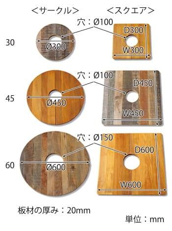 プランツテーブル サイズ