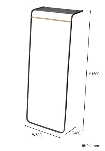 シェルフ付きコートハンガータワー サイズ