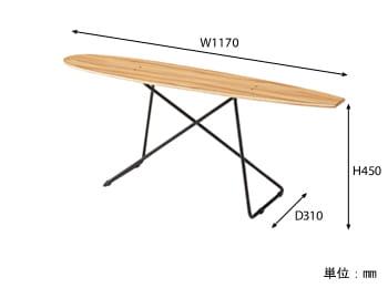 スケボーテーブル サイズ