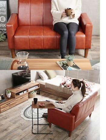 theo pvc leather sofa