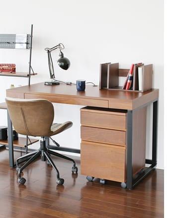 walnut desk cord storage