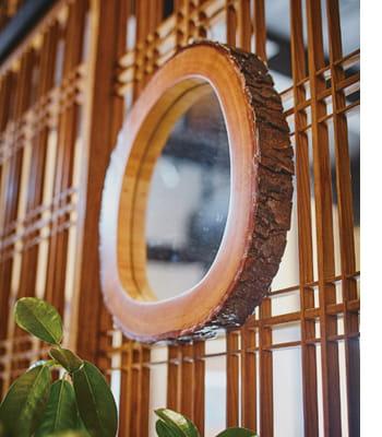 wood slick mirror
