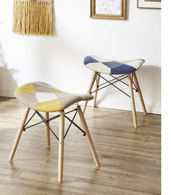 yodel patchwork stool