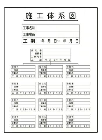 施工体系図JHA-10T