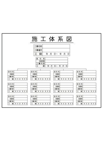 施工体系図JHA-10Y