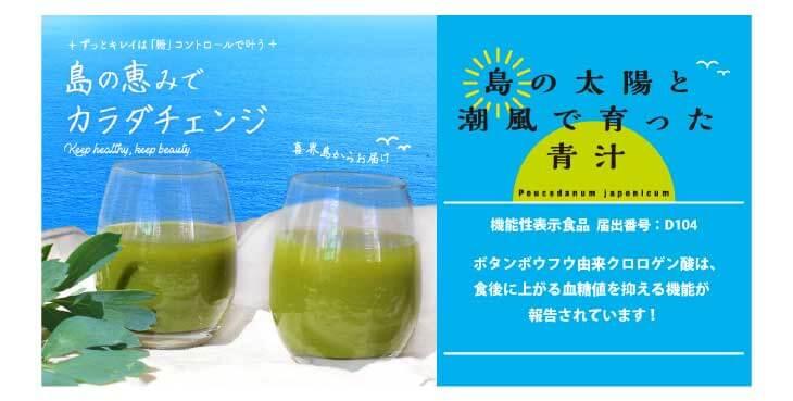 喜界島のボタンボウフウ(長命草)を使用した美味しい青汁