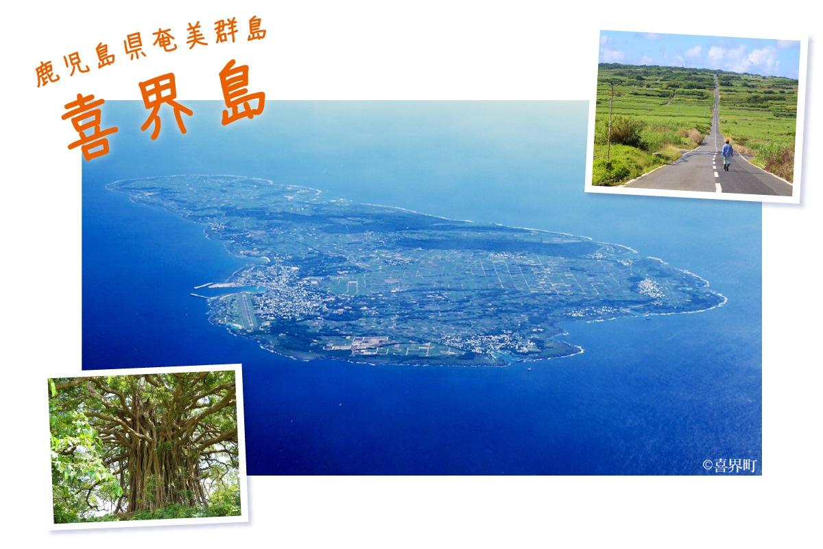 喜界島は鹿児島県奄美群島のひとつ