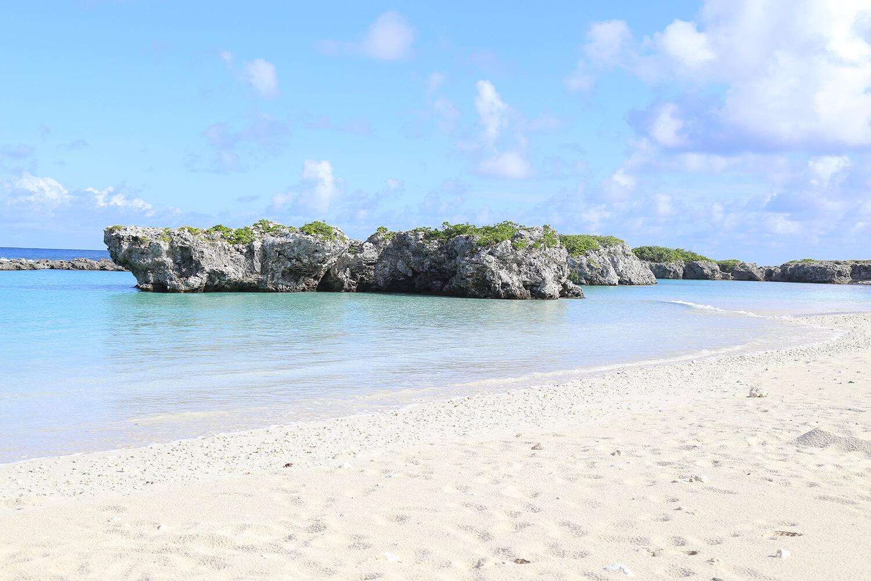 喜界島は、隆起サンゴ礁から成り立っています。