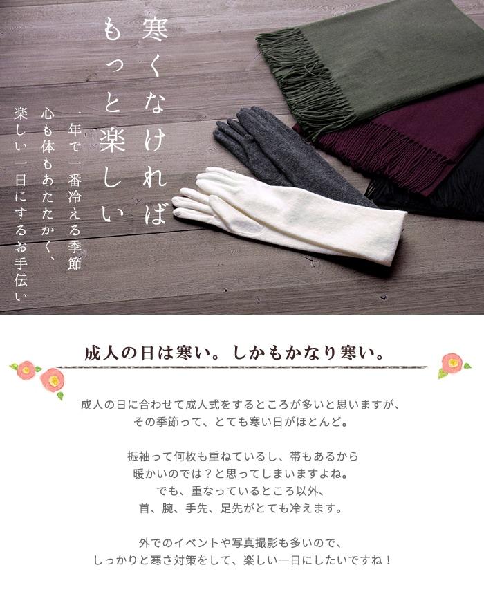 2019×2020振袖 成人式 小物特集 寒さ対策編