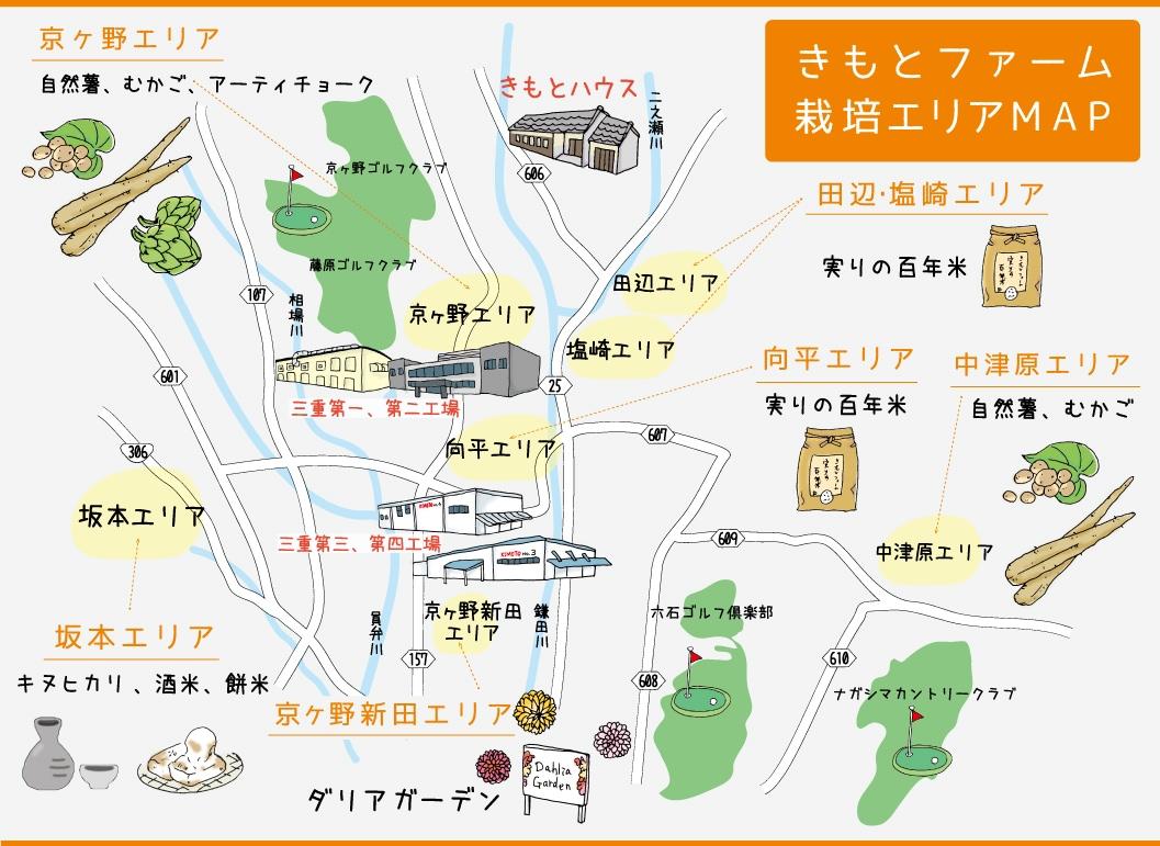 きもとファーム・MAP