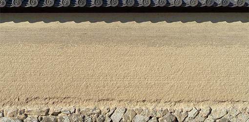 版築土塀仕上げ材料