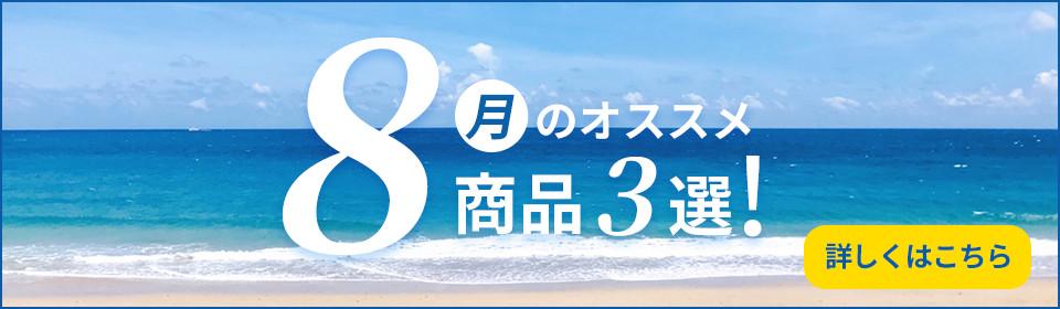 8月のおすすめ商品3選!