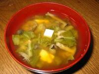 畑しめじ(ハタケシメジ)の味噌汁