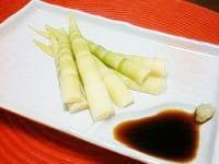 姫竹(ネマガリダケ、細竹)のお刺身風