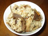 ちち茸(チチタケ)の炊き込みご飯