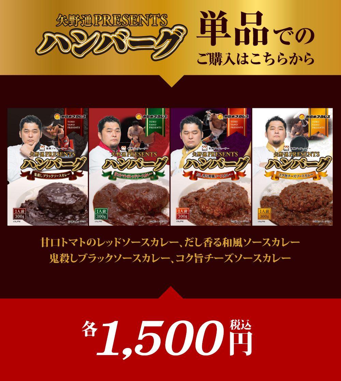 矢野通Presentsハンバーグカレー単品購入はこちらから