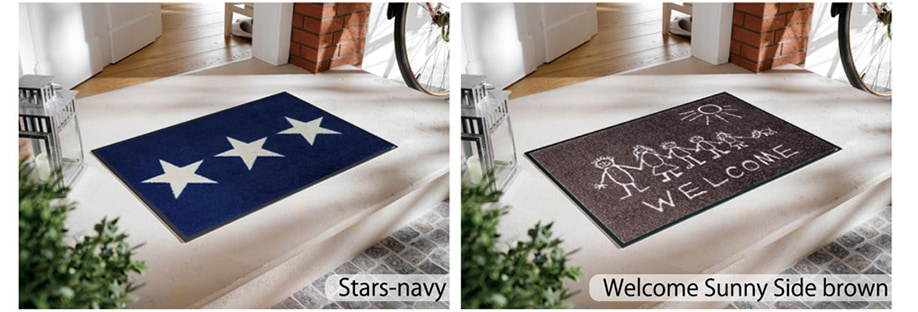 50x75 Stars-navy Welcome Sunny Side brown