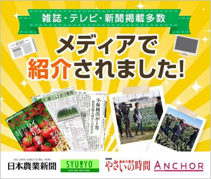 雑誌・テレビ・新聞掲載多数 メディアで紹介されました!