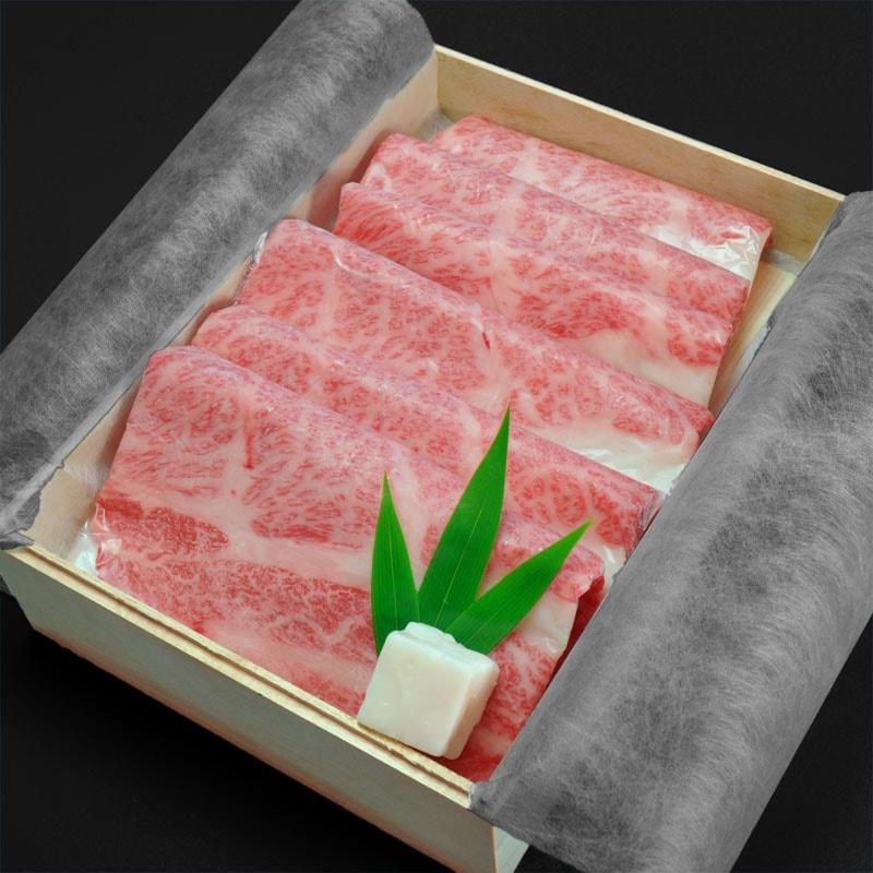 神戸牛高級ギフト五つ星ロースすき焼き400g〜はこちらでございます。
