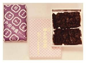 神戸牛の加工品神戸肉佃煮 真空パックができるようになり、外箱は紙製になりました。